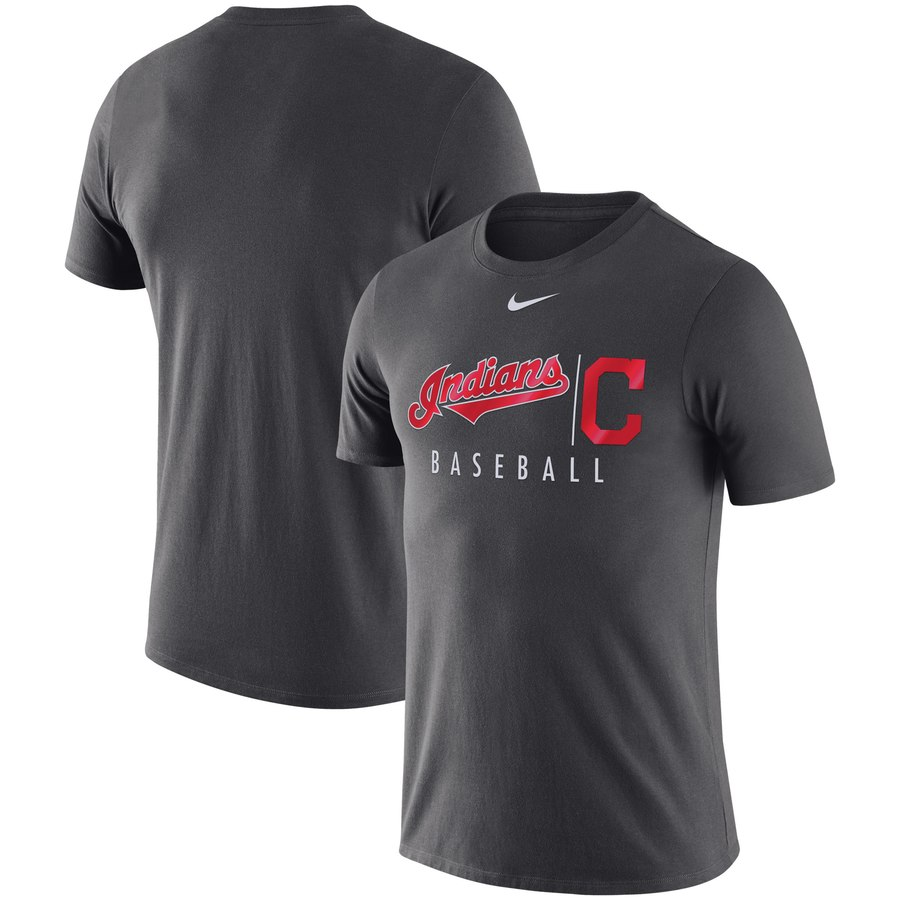 Cleveland Indians Nike MLB Practice T-Shirt Anthracite