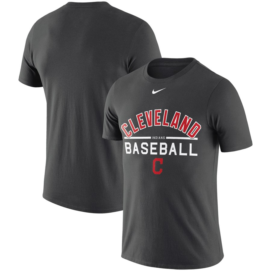 Cleveland Indians Nike Practice Performance T-Shirt Anthracite