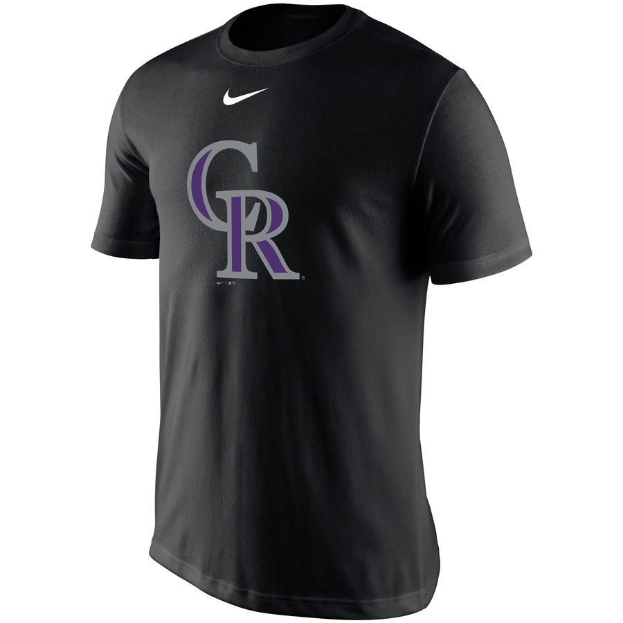 Colorado Rockies Nike Legend Batting Practice Primary Logo Performance T-Shirt Black