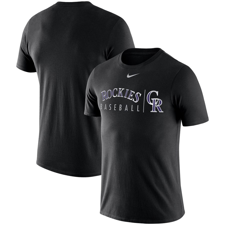 Colorado Rockies Nike MLB Practice T-Shirt Black