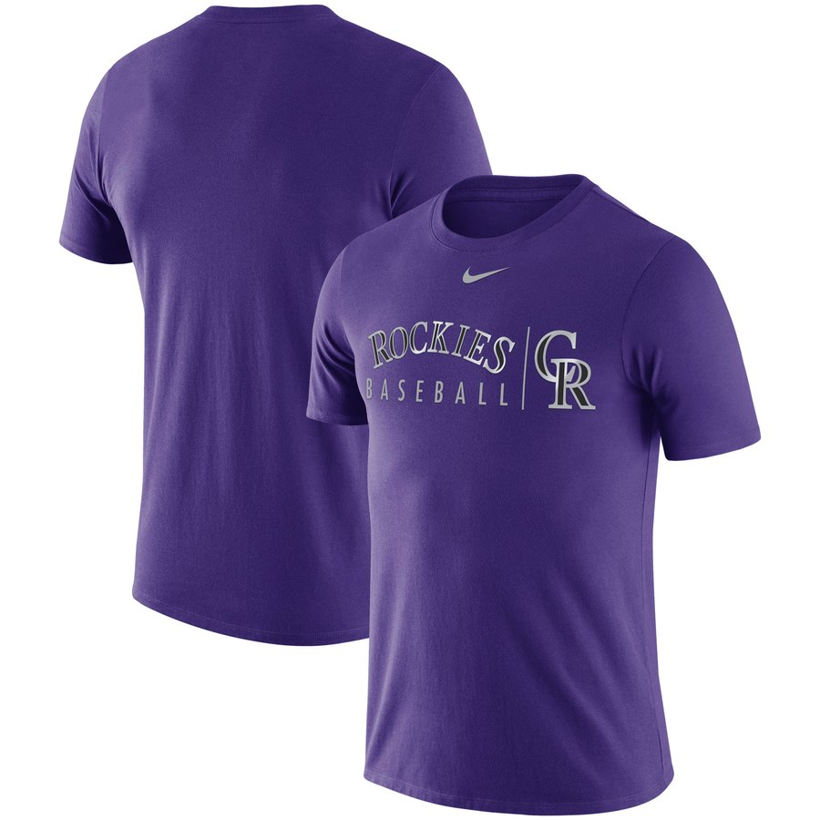 Colorado Rockies Nike MLB Practice T-Shirt Purple