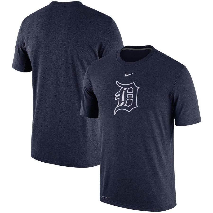 Detroit Tigers Nike Legend Batting Practice Primary Logo Performance T-Shirt Navy