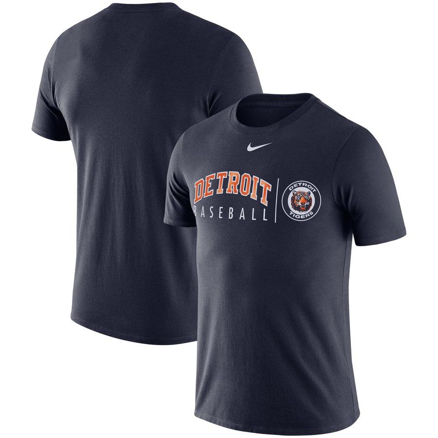 Detroit Tigers Nike MLB Team Logo Practice T-Shirt Navy