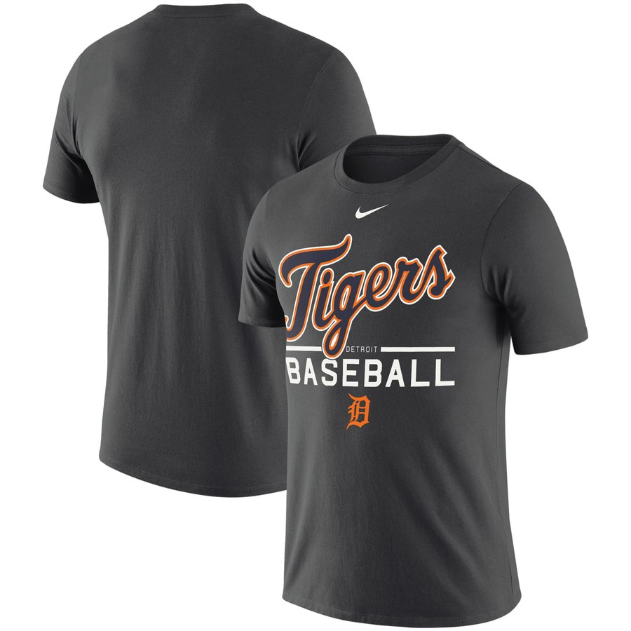 Detroit Tigers Nike Practice Performance T-Shirt Anthracite