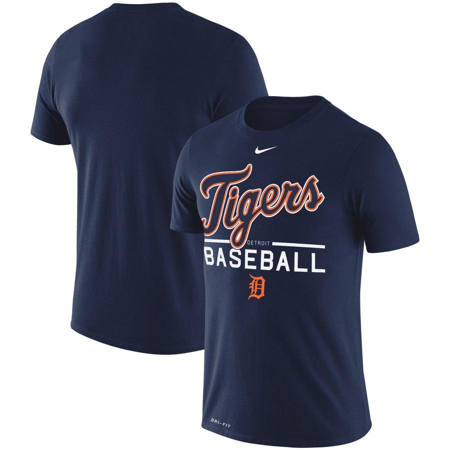 Detroit Tigers Nike Practice Performance T-Shirt Navy
