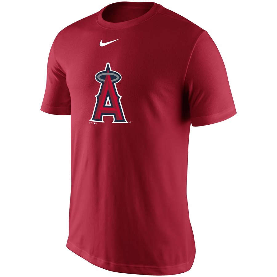 Los Angeles Angels Nike Legend Batting Practice Primary Logo Performance T-Shirt Red
