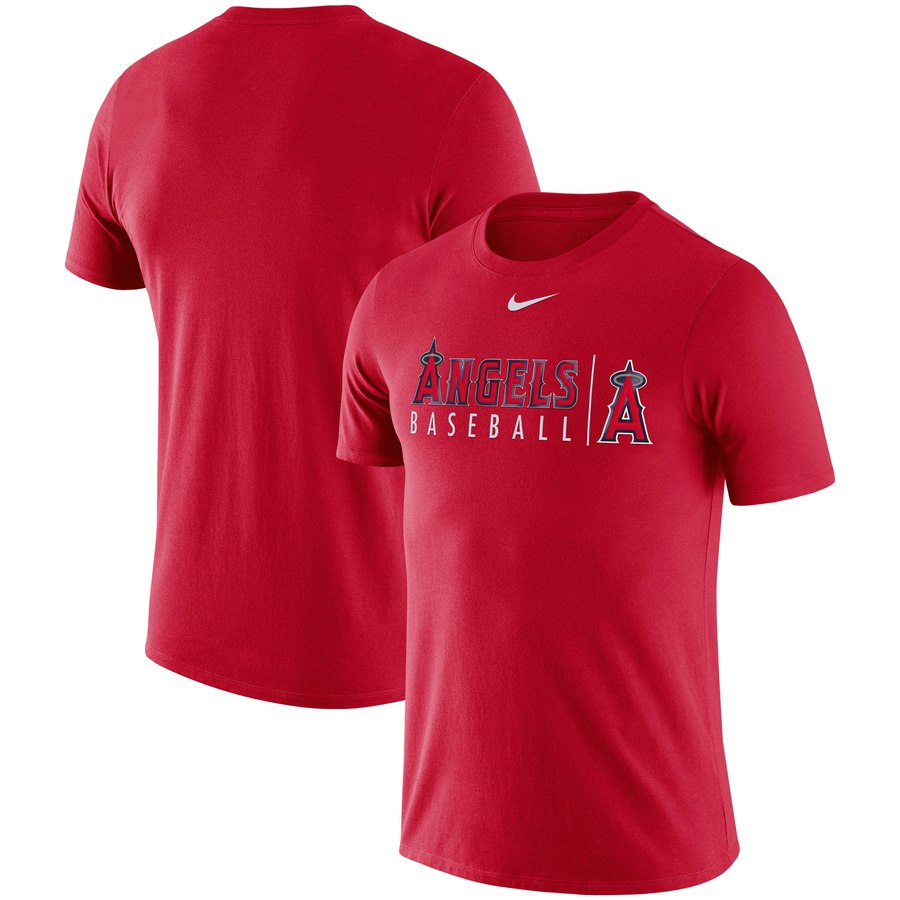 Los Angeles Angels Nike MLB Practice T-Shirt Red