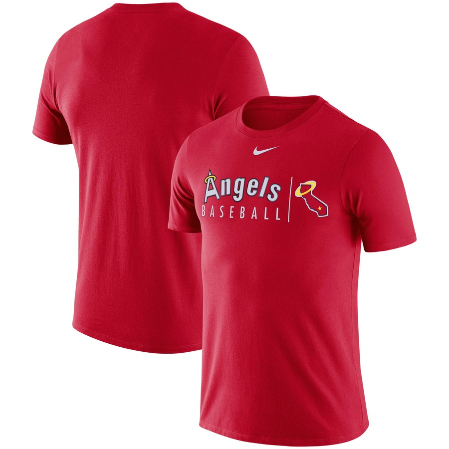 Los Angeles Angels Nike MLB State Logo Practice T-Shirt Red