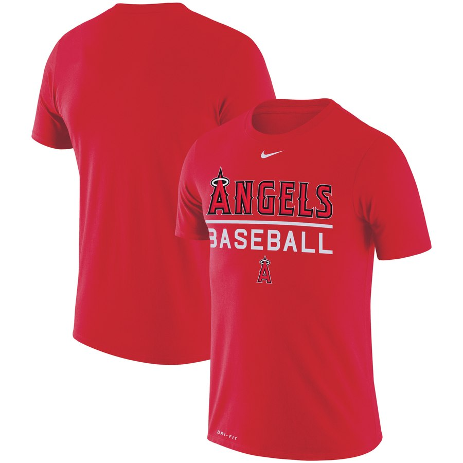 Los Angeles Angels Nike Practice Performance T-Shirt Red
