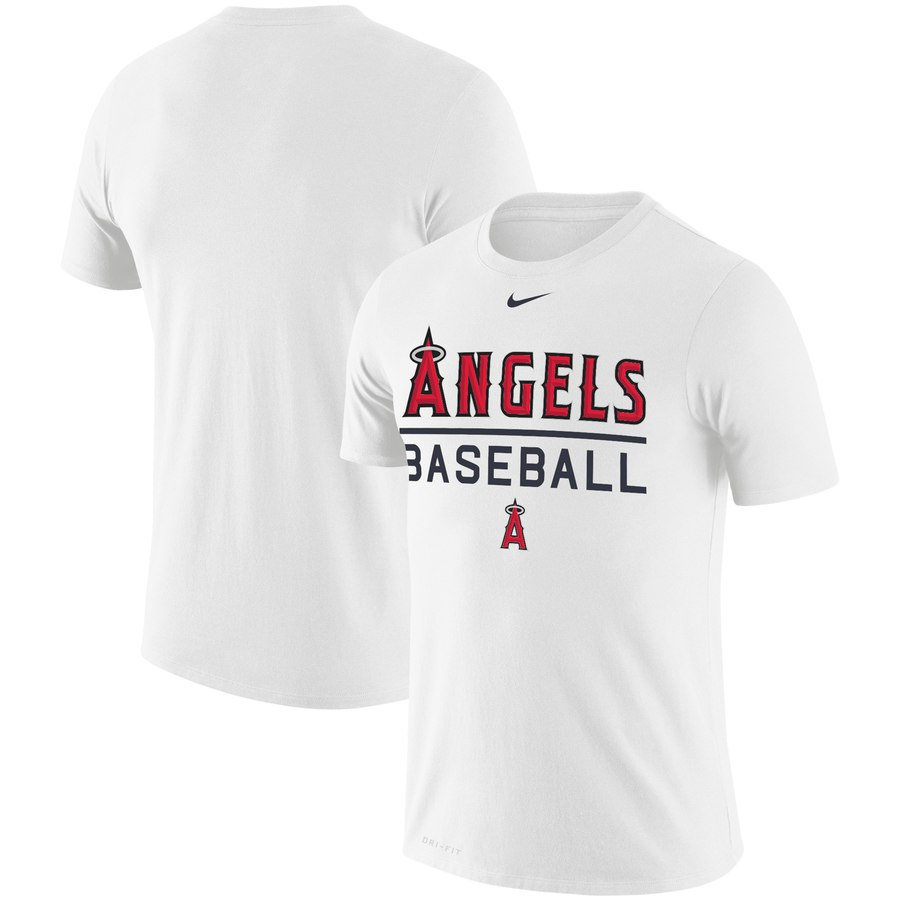 Los Angeles Angels Nike Practice Performance T-Shirt White