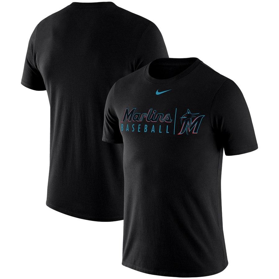 Miami Marlins Nike 2019 Practice T-Shirt Black