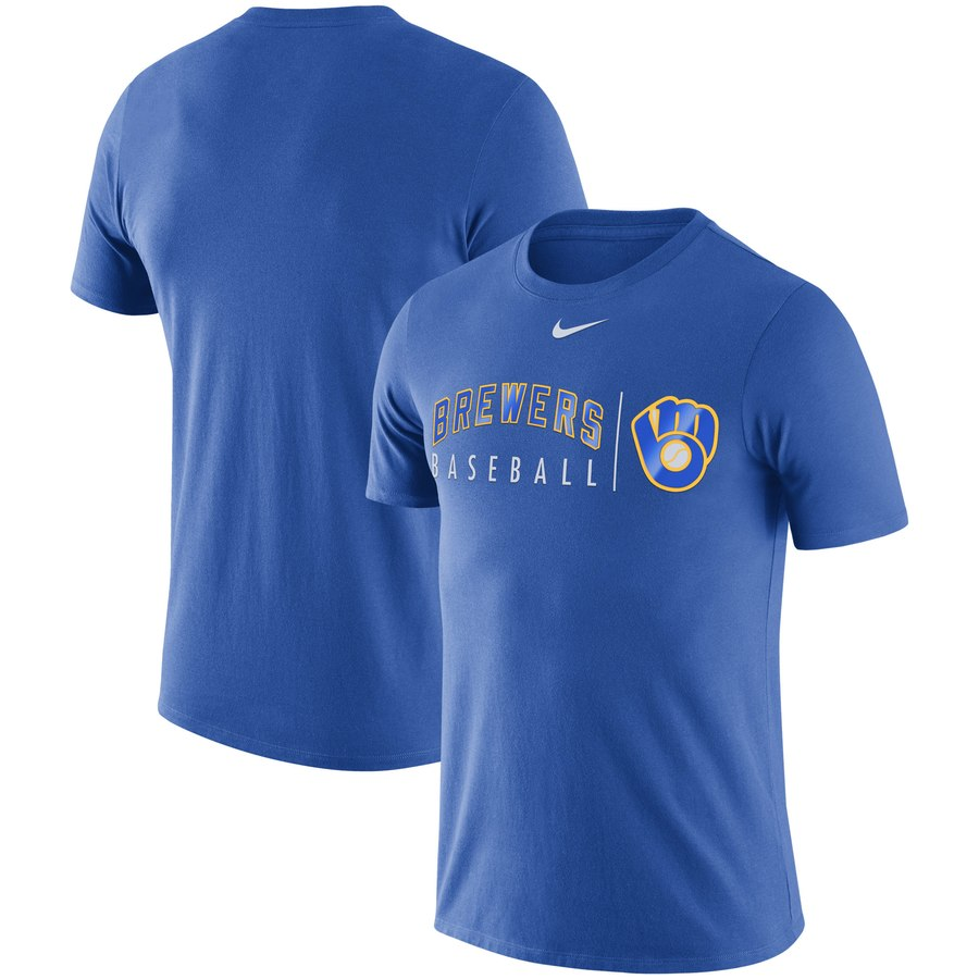 Milwaukee Brewers Nike MLB Practice T-Shirt Royal