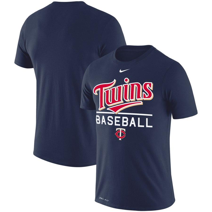 Minnesota Twins Nike Wordmark Practice Performance T-Shirt Navy