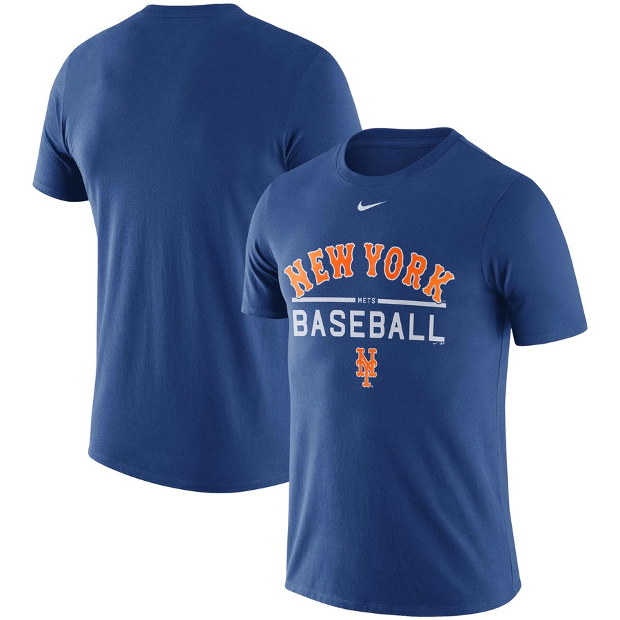 New York Mets Nike Away Practice T-Shirt Royal