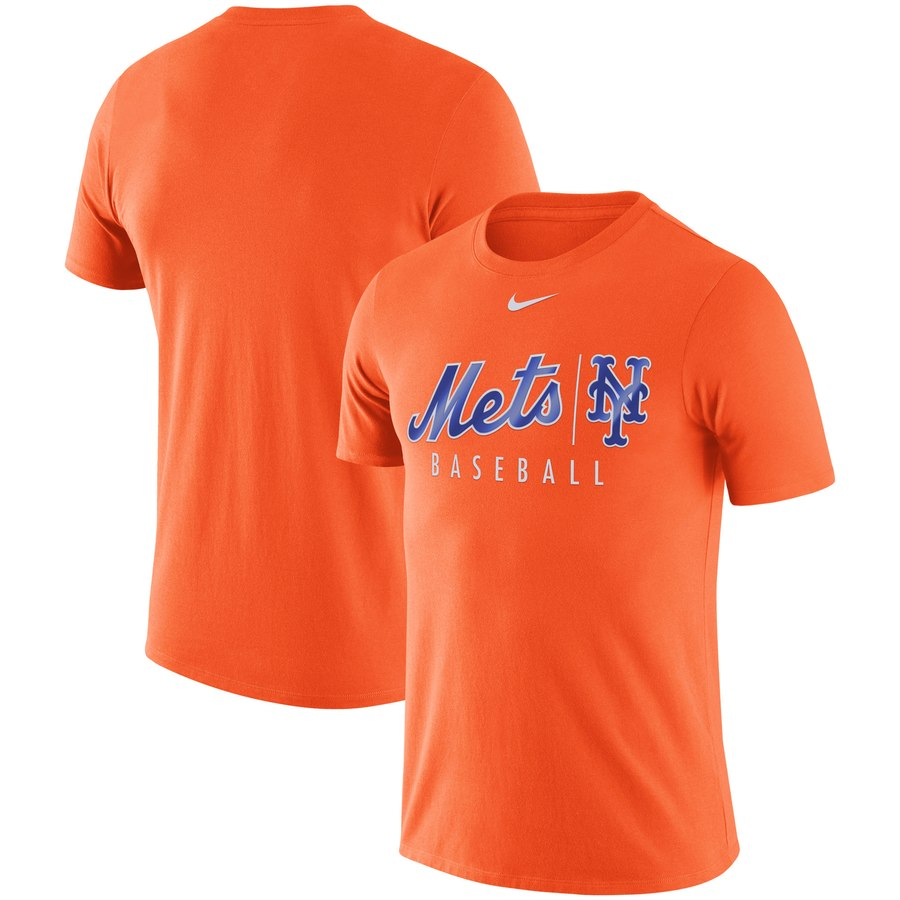 New York Mets Nike MLB Practice T-Shirt Orange