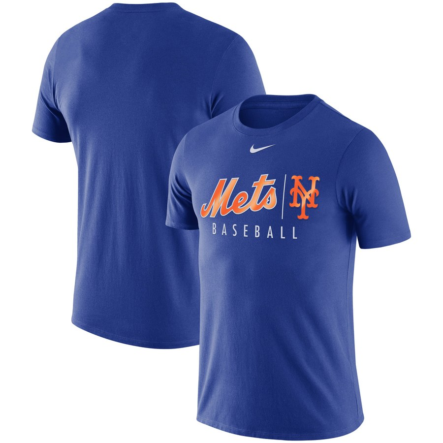 New York Mets Nike MLB Practice T-Shirt Royal