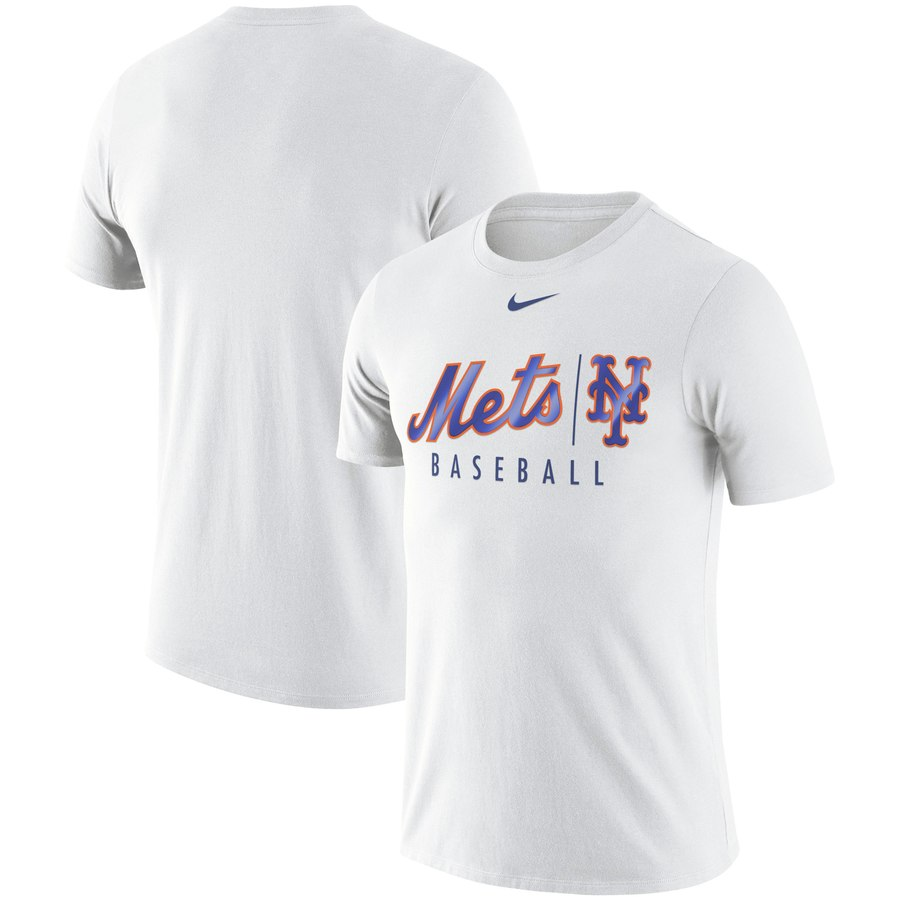 New York Mets Nike MLB Practice T-Shirt White