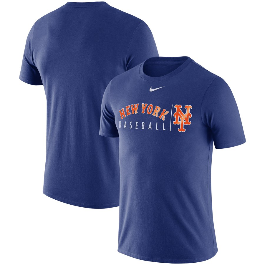 New York Mets Nike MLB Team Logo Practice T-Shirt Royal
