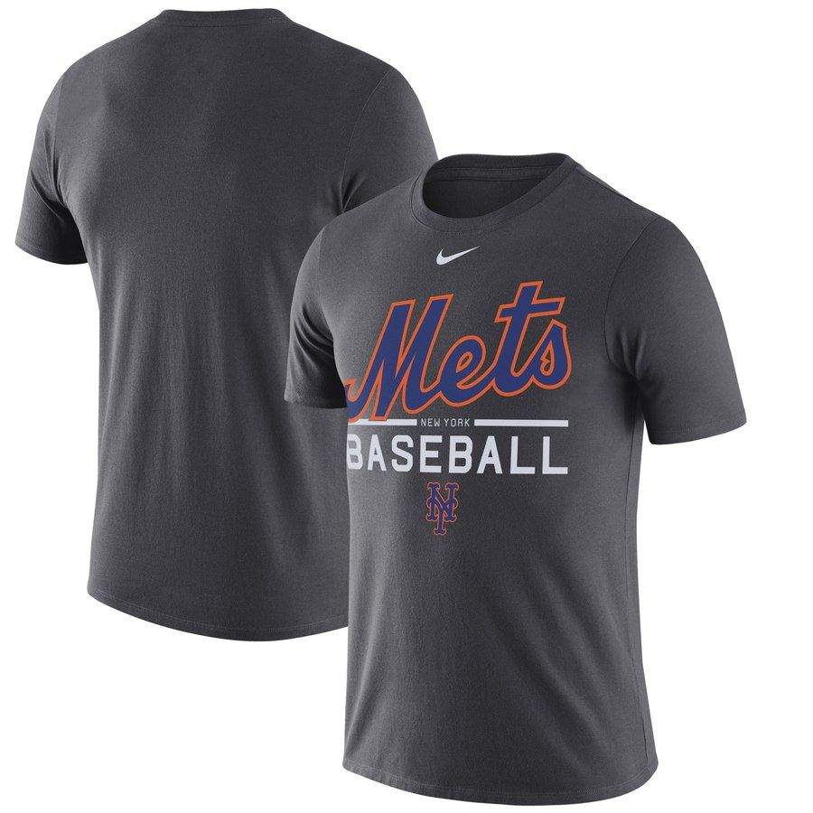 New York Mets Nike Practice Performance T-Shirt Anthracite