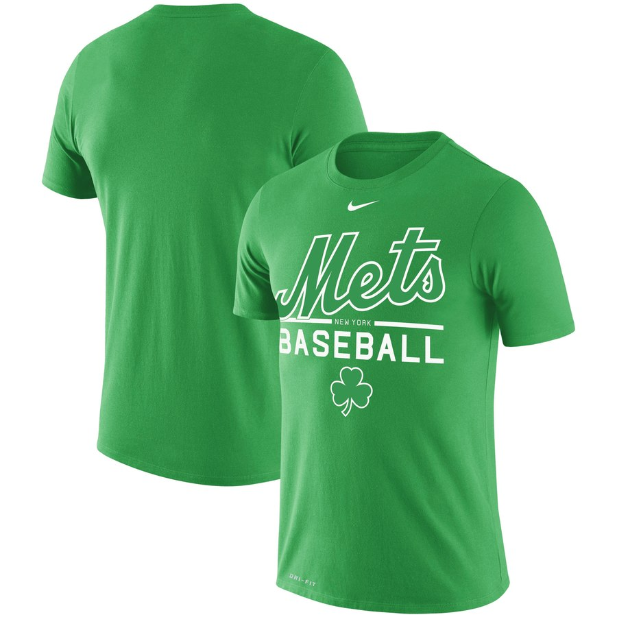 New York Mets Nike Wordmark Practice Performance T-Shirt Green
