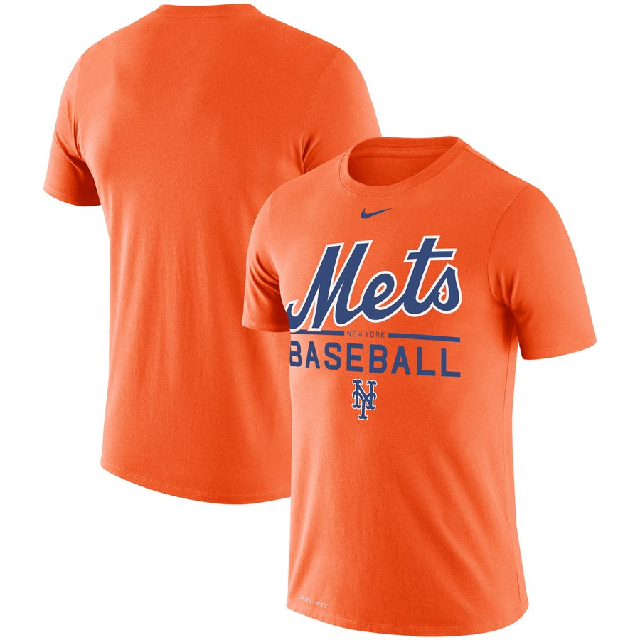 New York Mets Nike Wordmark Practice Performance T-Shirt Orange