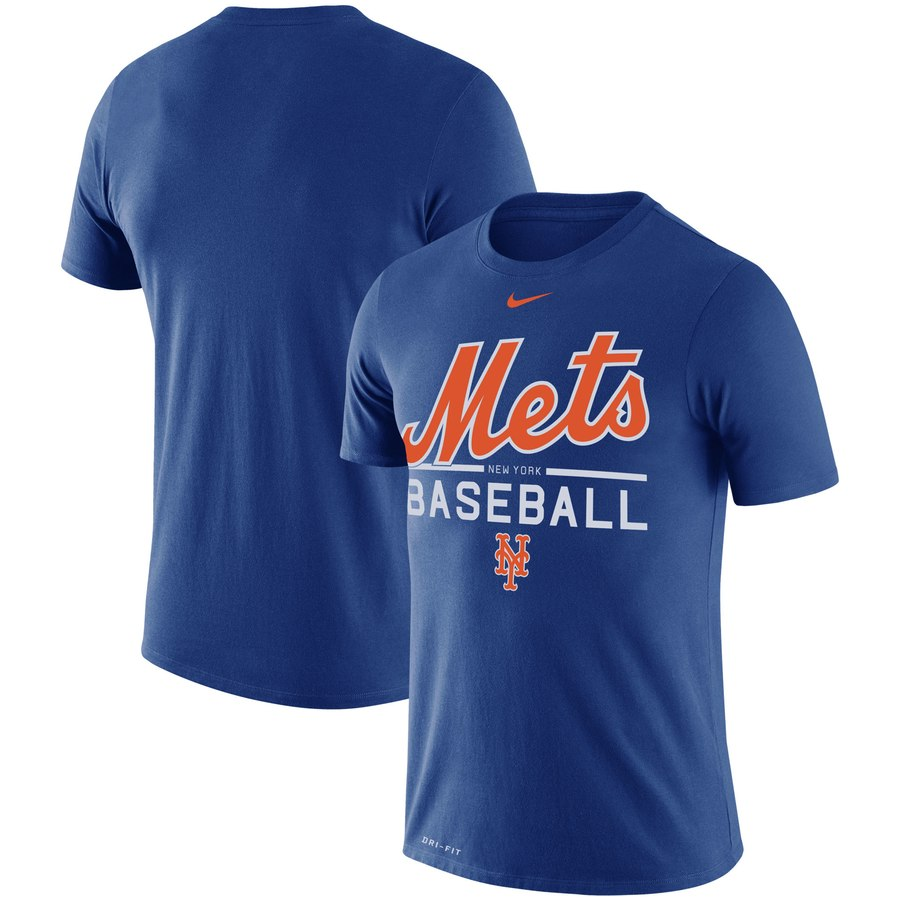 New York Mets Nike Wordmark Practice Performance T-Shirt Royal