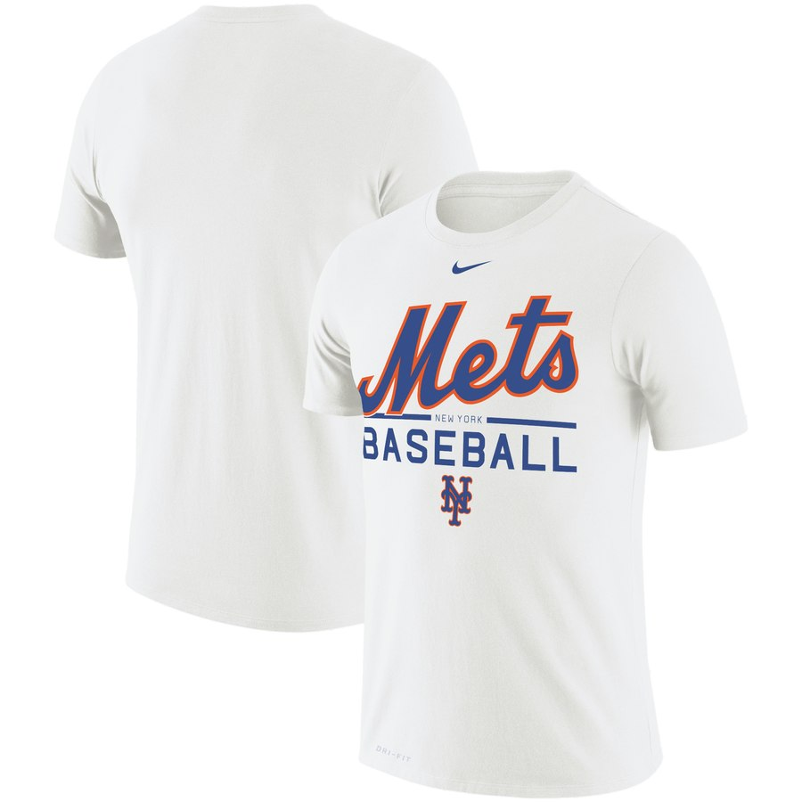 New York Mets Nike Wordmark Practice Performance T-Shirt White