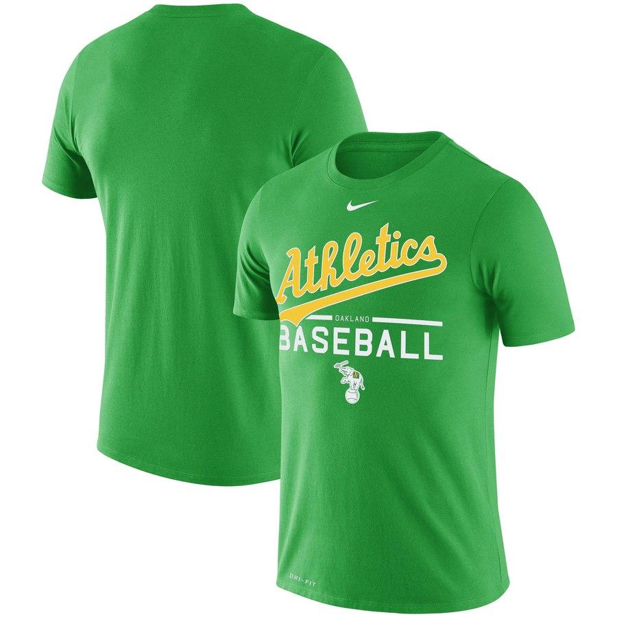 Oakland Athletics Nike Alternate Logo Practice Performance T-Shirt Green
