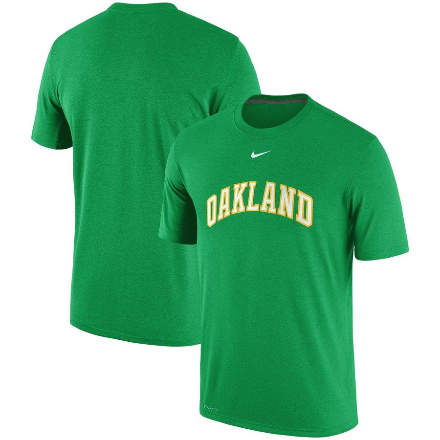 Oakland Athletics Nike Batting Practice Logo Legend Performance T-Shirt Gree