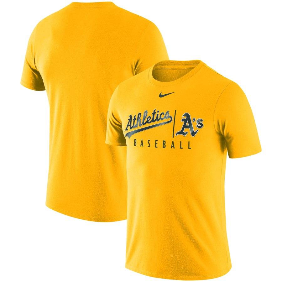 Oakland Athletics Nike MLB Practice T-Shirt Gold