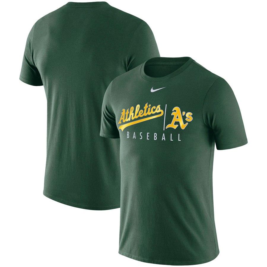 Oakland Athletics Nike MLB Practice T-Shirt Green