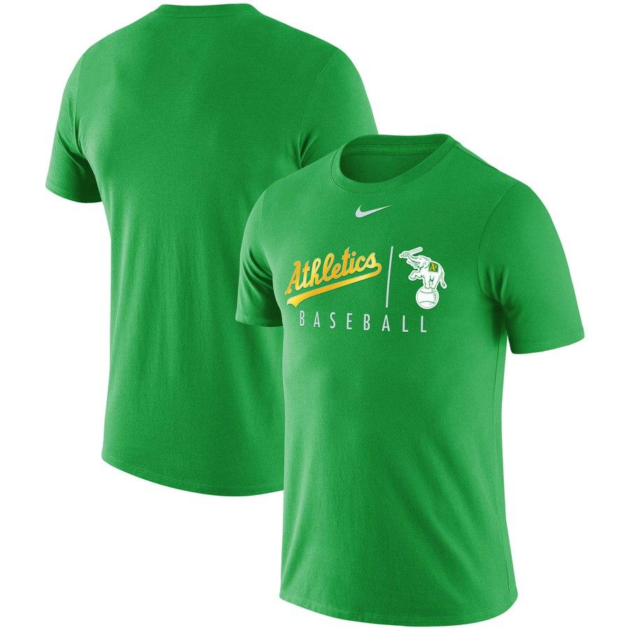 Oakland Athletics Nike MLB Team Logo Practice T-Shirt Green