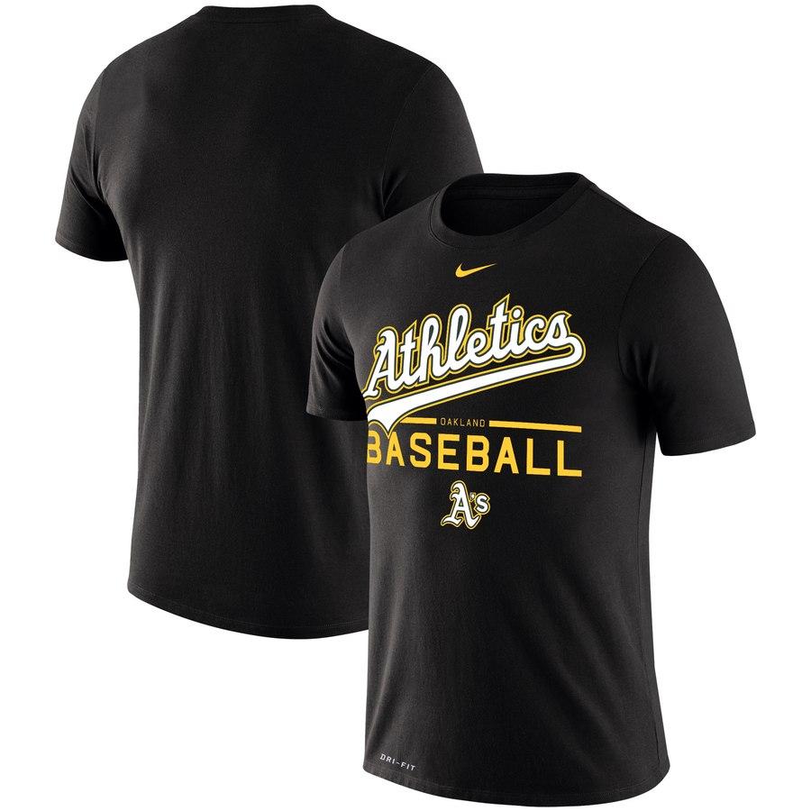 Oakland Athletics Nike Practice Performance T-Shirt Black