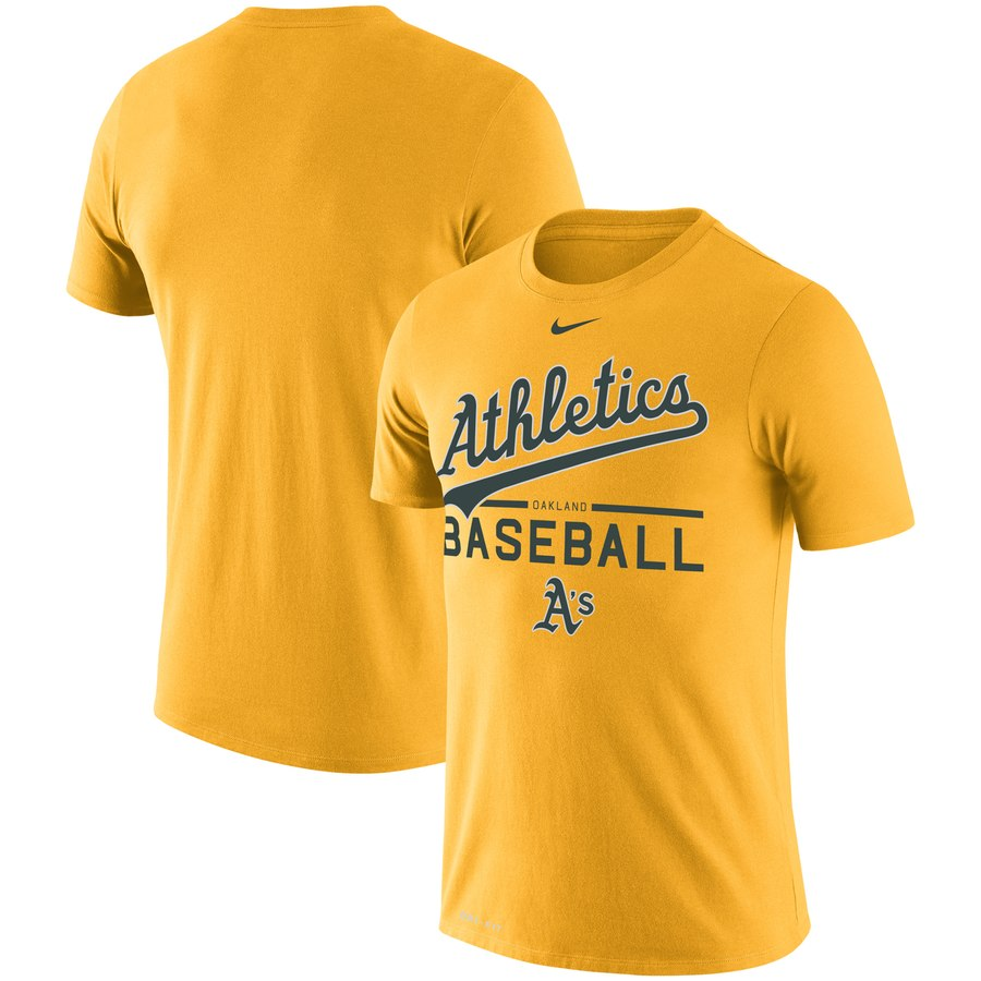 Oakland Athletics Nike Practice Performance T-Shirt Gold
