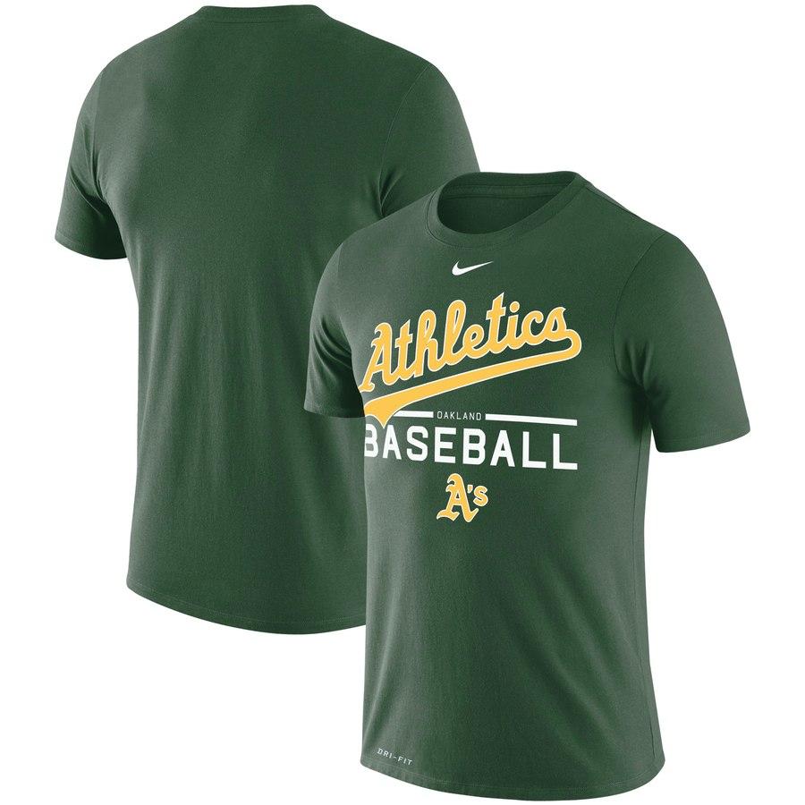 Oakland Athletics Nike Practice Performance T-Shirt Green