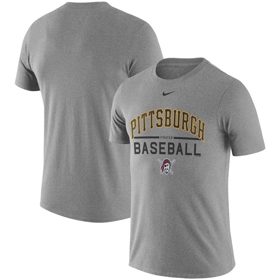 Pittsburgh Pirates Nike Away Practice T-Shirt Heathered Gray