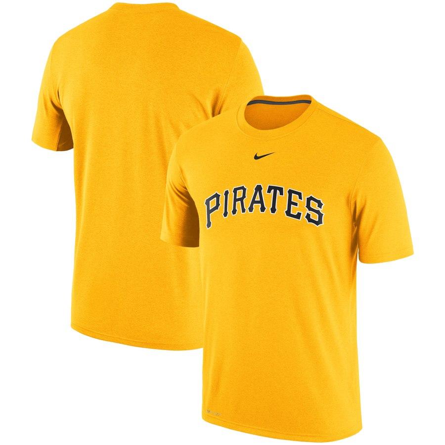 Pittsburgh Pirates Nike Batting Practice Logo Legend Performance T-Shirt Gold