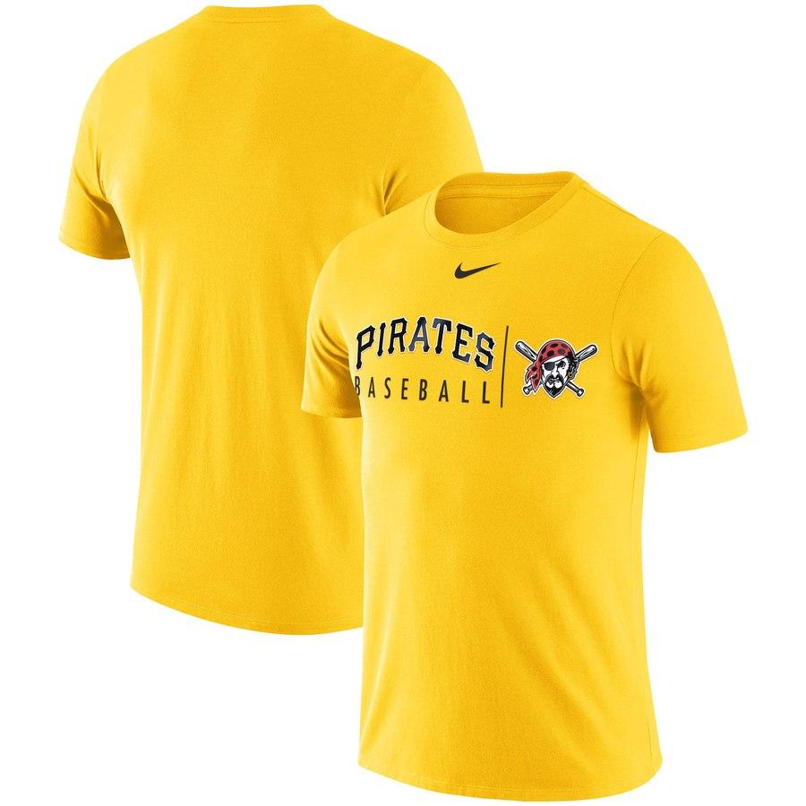 Pittsburgh Pirates Nike MLB Practice T-Shirt Gold