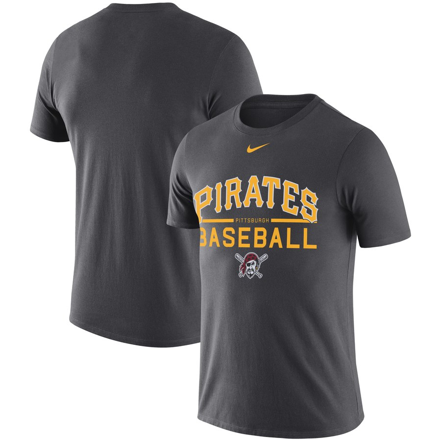Pittsburgh Pirates Nike Practice Performance T-Shirt Anthracite