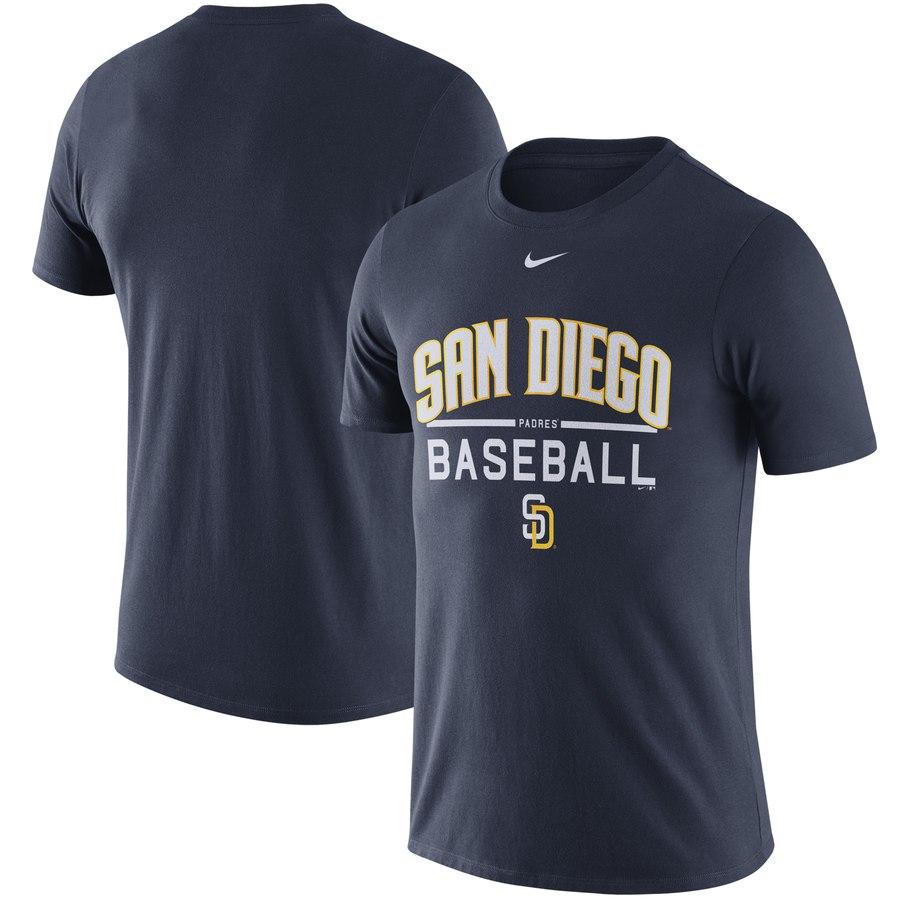 San Diego Padres Nike Away Practice T-Shirt Navy