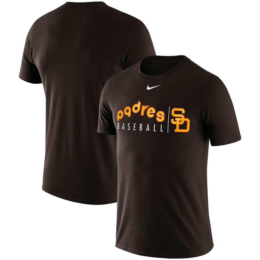 San Diego Padres Nike MLB Team Logo Practice T-Shirt Brown