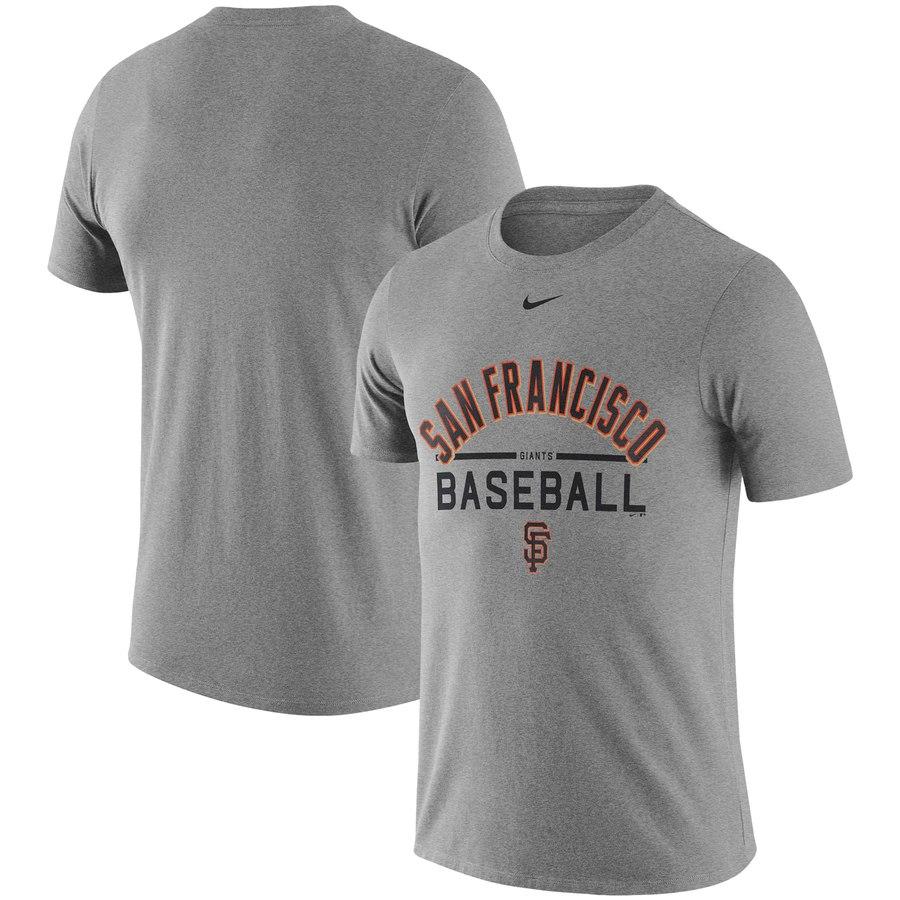 San Francisco Giants Nike Away Practice T-Shirt Heathered Gray