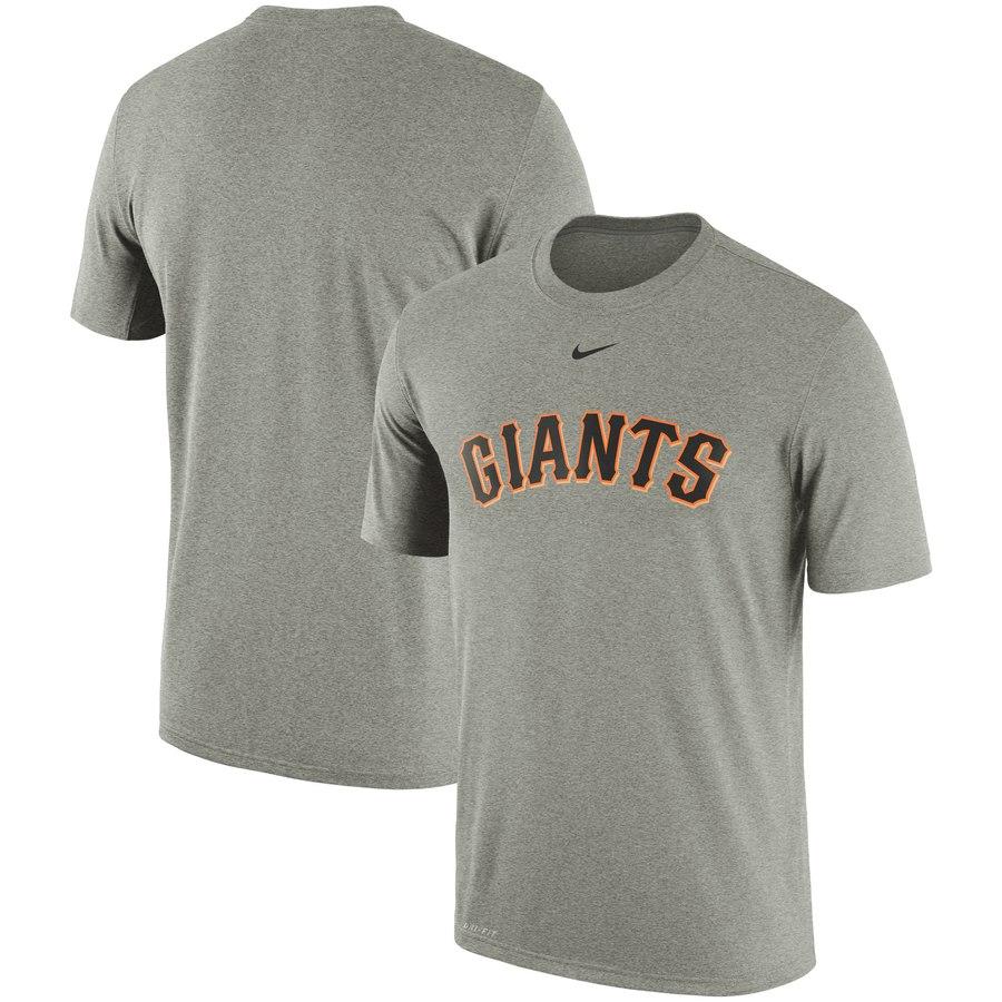San Francisco Giants Nike Batting Practice Logo Legend Performance T-Shirt Gray