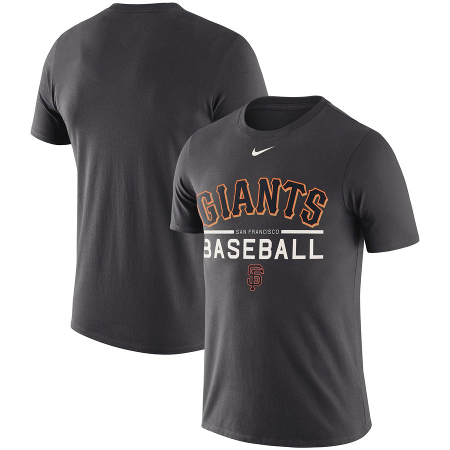 San Francisco Giants Nike Practice Performance T-Shirt Anthracite