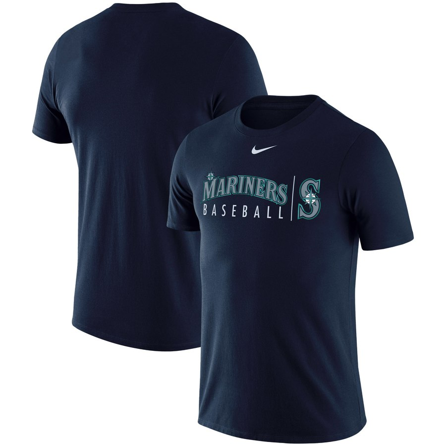 Seattle Mariners Nike MLB Practice T-Shirt Navy