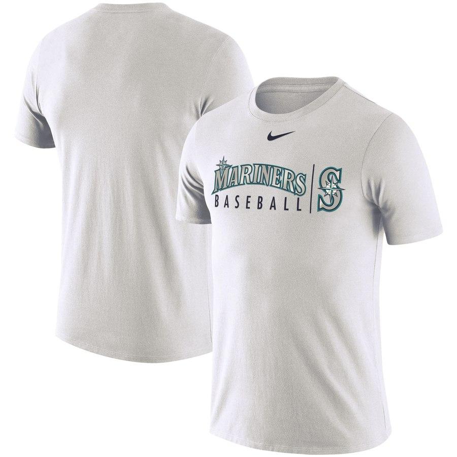 Seattle Mariners Nike MLB Practice T-Shirt White