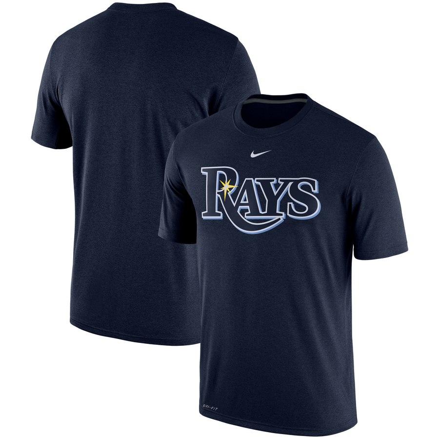 Tampa Bay Rays Nike Batting Practice Logo Legend Performance T-Shirt Navy