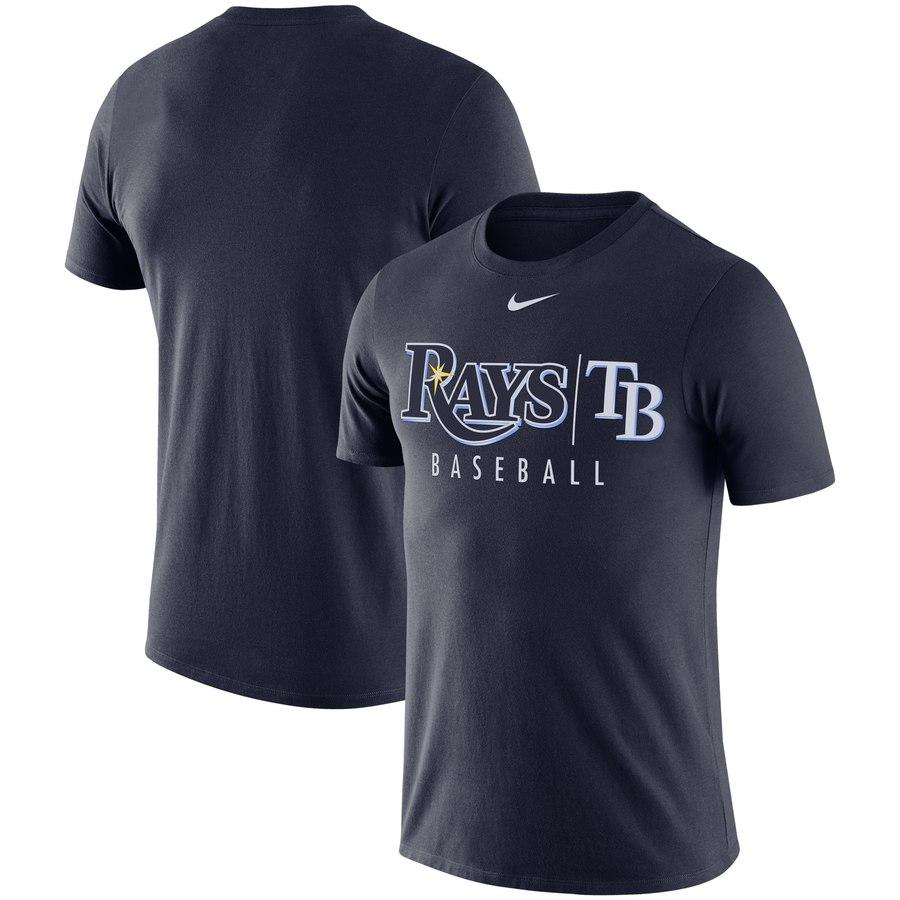Tampa Bay Rays Nike MLB Practice T-Shirt Navy