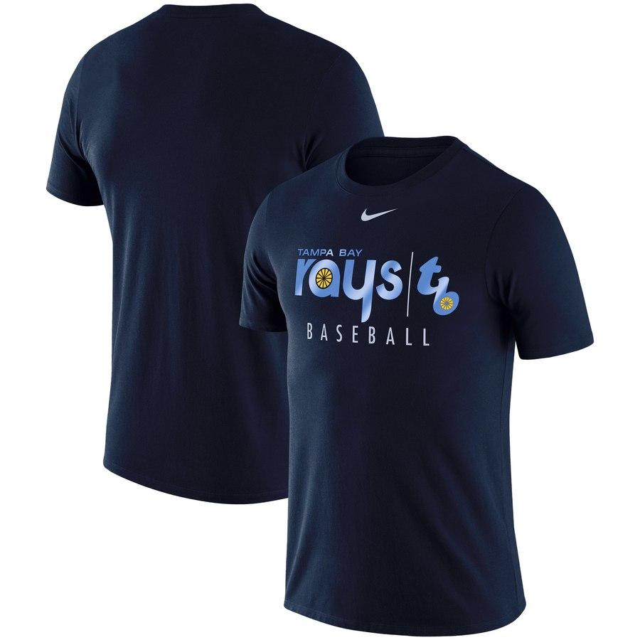 Tampa Bay Rays Nike MLB Team Logo Practice T-Shirt Navy