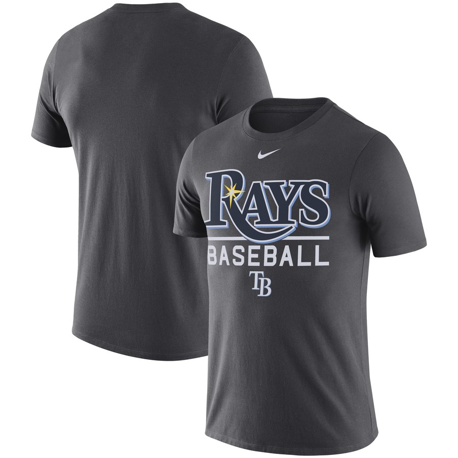Tampa Bay Rays Nike Practice Performance T-Shirt Anthracite